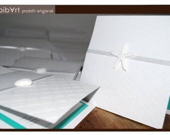 Invitation style white sea, white sea style invitation