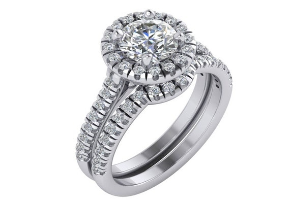 Simple Diamond Engagement Ring Diamond Halo Engagement Ring