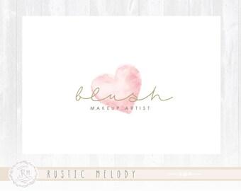 Makeup Artist Logo Heart Logo Photography Logo Design Boutique Logo Blush Logo Decor Logo Design Watermark