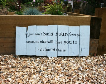 Handmade Wooden Saying Sign