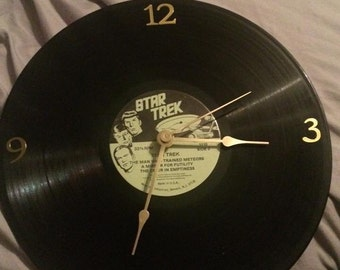Star Trek Vinyl Album Clock
