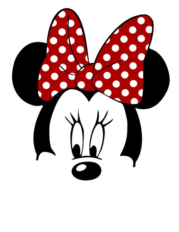 Minnie Mouse Face Svg File From Mamascontrolledchaos On