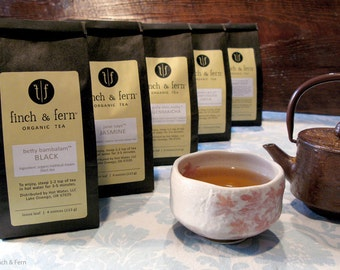 Choose 4 Organic Loose Leaf Tea SAMPLES
