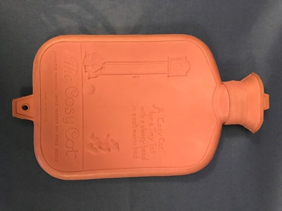 """Vintage The """"Cosy Cot"""" Seamless Moulded Little Peoples Hot Water Bottle"""
