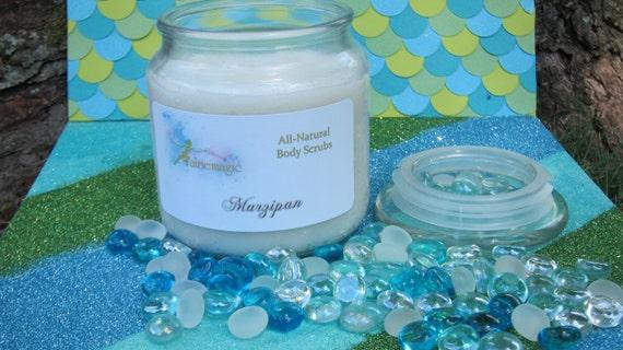 All Natural MARZIPAN Sugar Scrub, Handmade by a Certified Esthetician 8 oz/16 oz