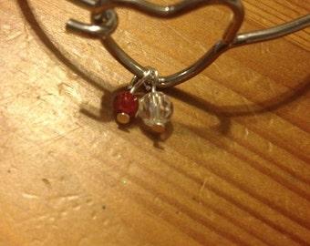 Valentines heart wire bracelet