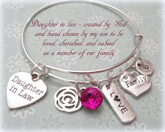 Wedding Gifts For Daughter In Law : Daughter in Law Gift, Wedding Gift for New Daughter, Birthstone ...