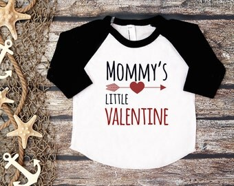Mommy's Little Valentine;Valentine's Day Tee;First Valentine's Day Shirt;1st Valentine's Day Tee;Mommy and Me Tee;Kid's Hipster Valentine