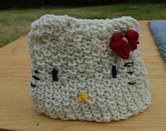 Hello kitty beanie. Handmade. Adult/Children/Infants
