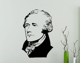 Alexander Hamilton Wall Decal Vinyl Sticker Home Room Interior Decoration Waterproof High Quality Mural (478xx)