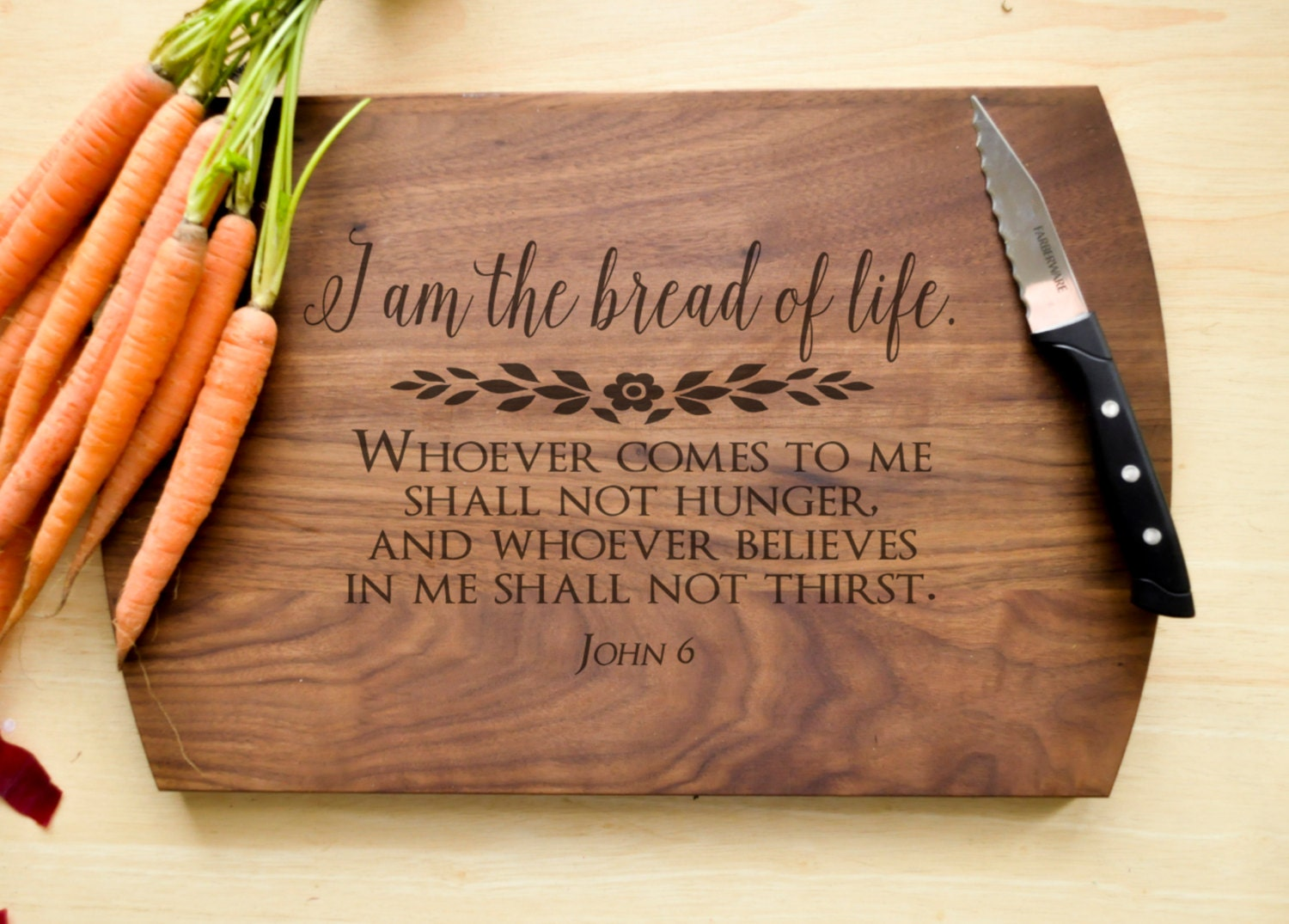 Bread of Life Cutting Board Christian Cutting Board