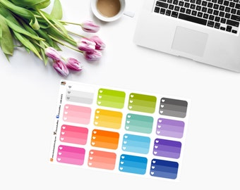 OMBRE HEART CHECKLISTS Planner Stickers - CAM00273