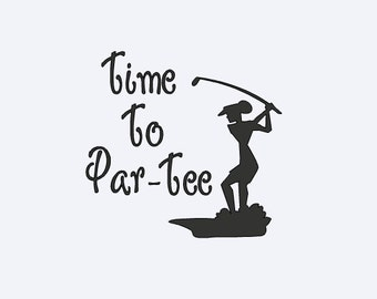 Golf Decal - Yeti Golf Decal - Funny Golf Decal - Golf Decal - Lilly Inspired Monogram - Women's Golf Decal