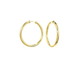 Medium 14K Gold Filled Endless Hoop Earrings