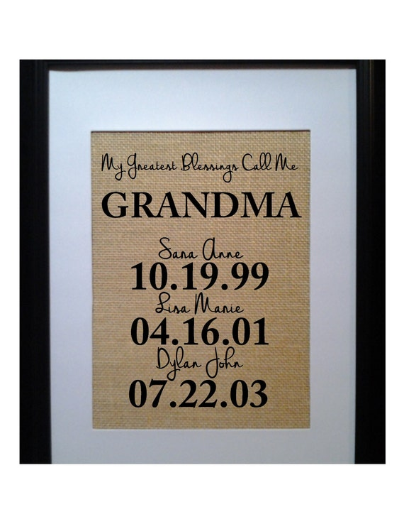 Christmas Gift for Grandma Personalized Gift for by ...