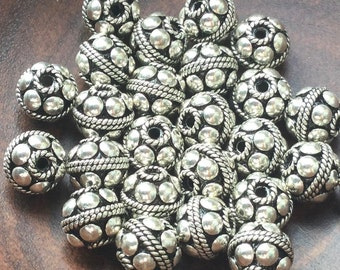 Bali Sterling Silver Round Bead