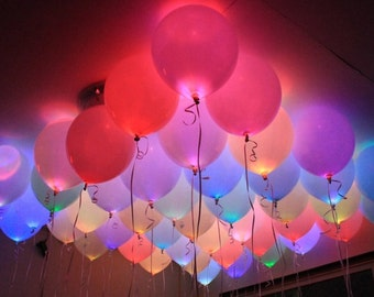 5 Mixed color Party Pack Led light up balloons