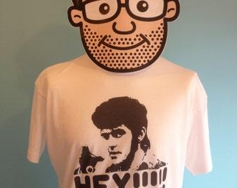 Alvin Stardust / Road Safety T Shirt - White Shirt