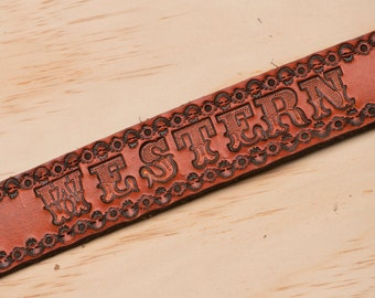 Western as F*ck Hand tooled leather belt
