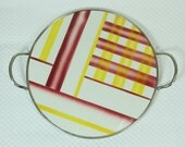 german art déco bauhaus spritzdekor CAKE PLATE ceramic platter abstract decor