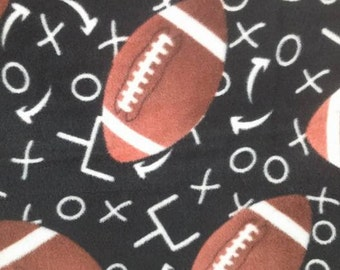 Foot ball tie knot blanket