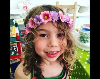 Flower Headbands - GREEN