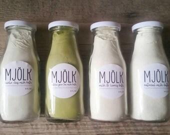 Milk Bath Powder Soak for Relaxation (8 oz - Choose from Honey, Kaolin Clay, Matcha Green Tea, and Oatmeal)