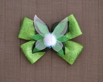 Disney Inspired Tinkerbell Hair Bow