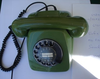Vintage Rotary Phone green 80's