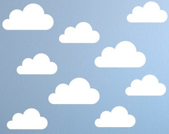 Clouds Stickers, Clouds Wall Decals, Clouds Vinyl Stickers, Nursery decals, kids Children play Bedroom, Cloud Wall decal, window stickers
