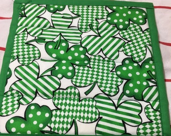 Set of 2 quilted St. Patrick's Day pot holders