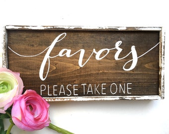 Favors Handcrafted Wooden Wedding Sign