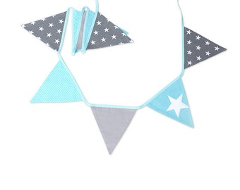Garland Triangle Bunting Banner Breath of Turquoise