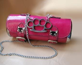 Rockabilly Pink cylinder bag for Therese Schmidt