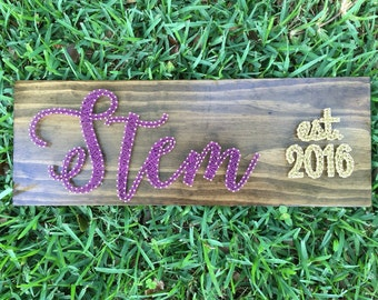 MADE TO ORDER - Custom Personalized Last Name Board with Est. Date - Script Font
