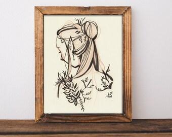 Elf Lady Art Print 8x10