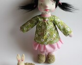 Waldorf Doll,  Anna, Waldorf inspired doll,  Sock Doll