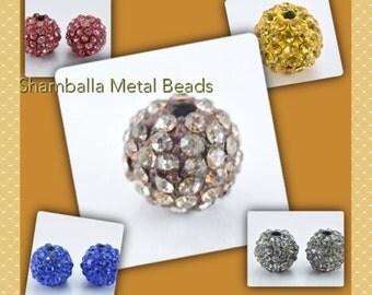 8mm Shamballa Rhinestone Ball Beads,Bling beads, Rhinestone beads,Metal beads, bracelet beads, handmade beads,Beads