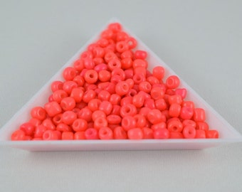 Seed Beads Glass Beads Size 6.0 Sold by 1/4, 1/2, 3/4, 1 LB/ Pound Size 6/0 are 3mm, 4mm Beads
