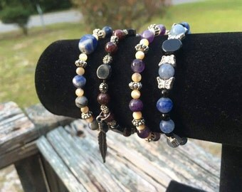 Crystal beaded bracelets, made to order!