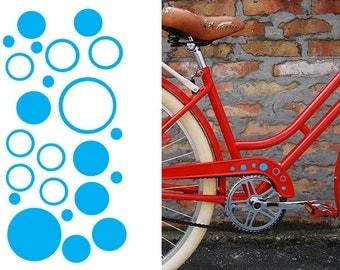 FUN STICKERS polka dot bicycle, bike decals