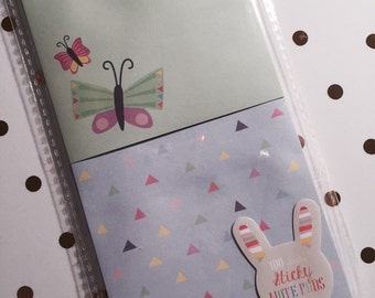 Butterflies & Triangles Sticky Notes Set