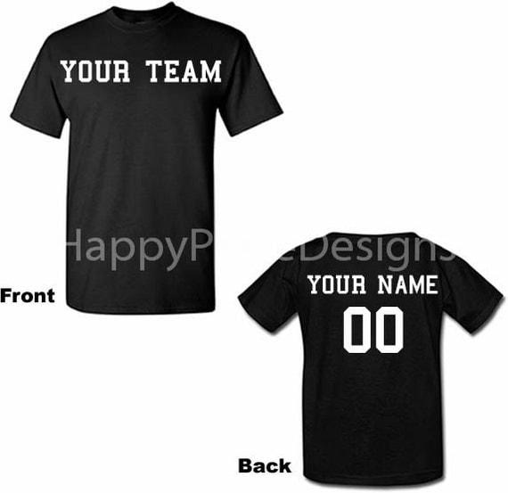 Custom tshirts custom t shirts namenumber team shirts for Custom team t shirts