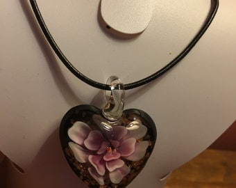 Glass Heart Pendant!!!!!!