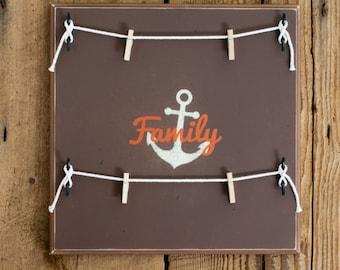 Family Anchor Picture Frame, Multi Purpose Hanger, Collage, Display Hanger, Keepsakes