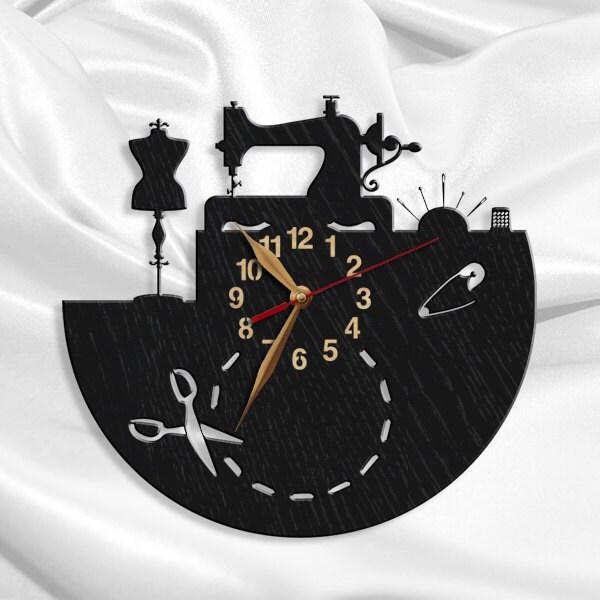 Coser sal n reloj de pared reloj de madera confecci n de 12 - Relojes para salon ...