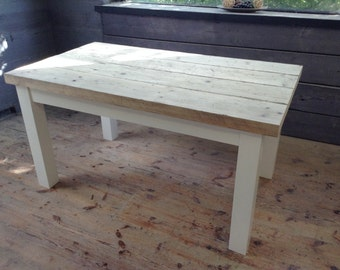 REDUCED Chunky rustic table with character reclaimed top