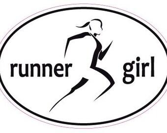 Runner girl car window sticker decal