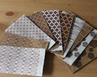 "50 Kraft paper kraft paper Bags decorated patterned Bags ""confettata"" wedding anniversary christening communion"