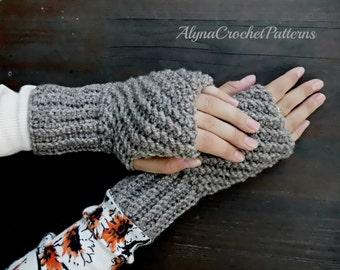 Fingerless Gloves Crochet Pattern - Fingerless Gloves for Women, Crochet Pattern- Crochet Gloves- Instant download